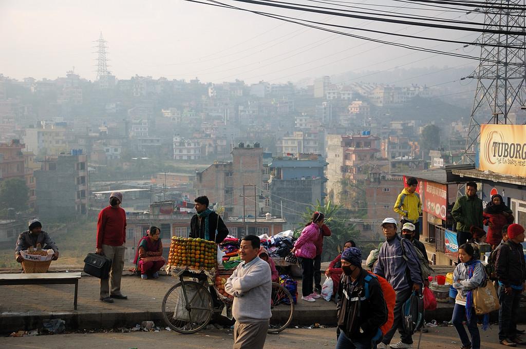 Выезжаем из Катманду