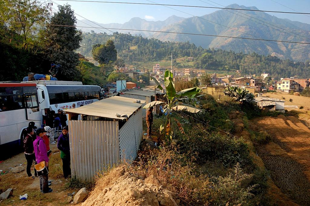 Придорожный WC, непальский вариант