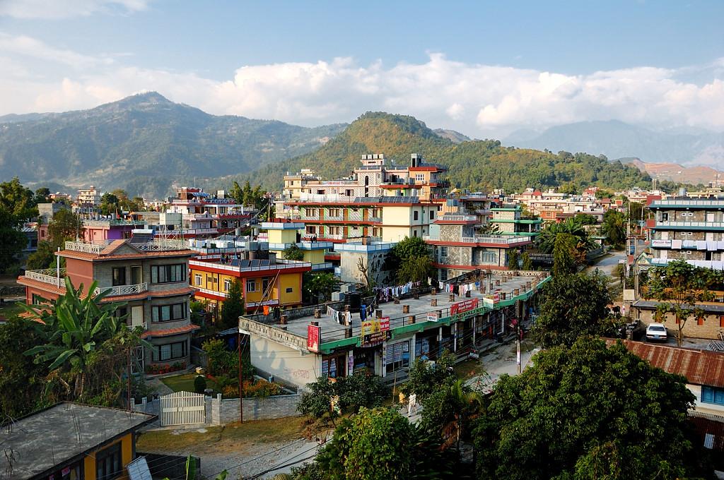 Вид с крыши отеля на Покхару