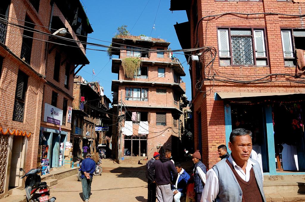 На улицах Бхактапура