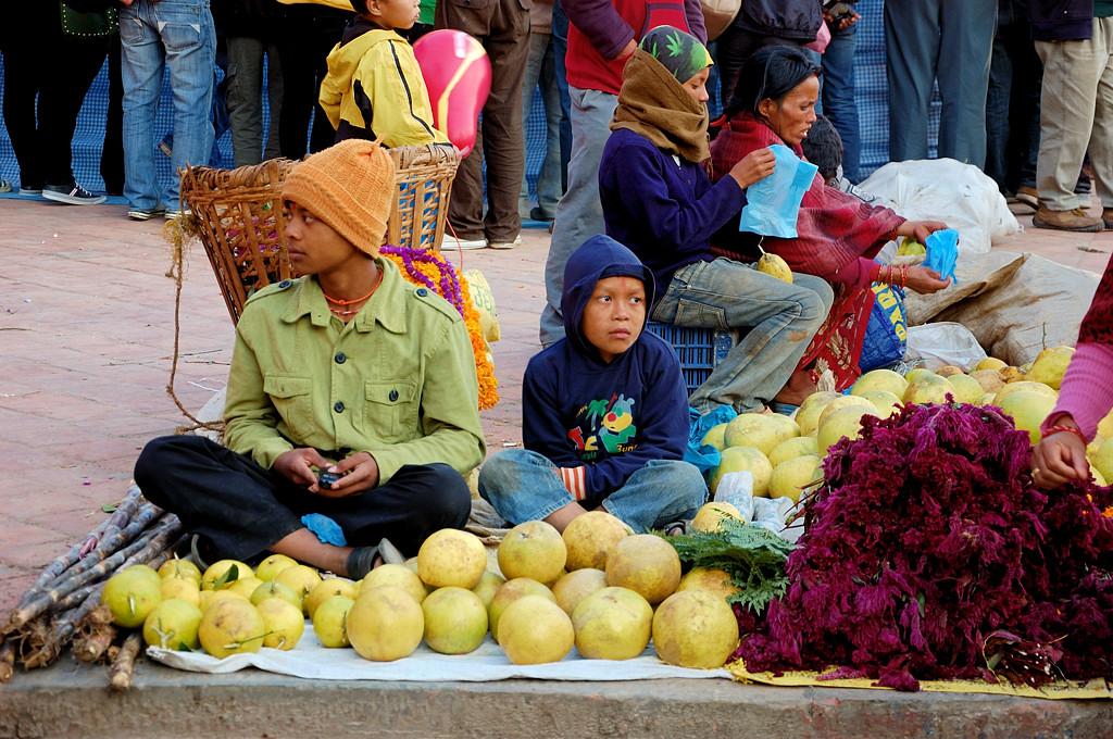 Торговля на площади Дурбар