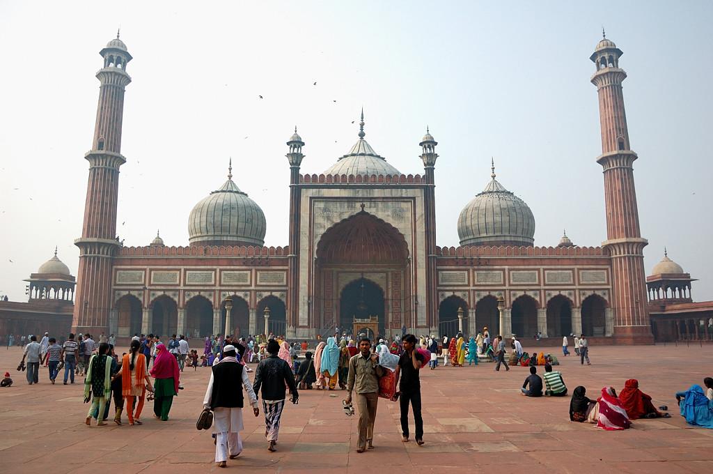 Вот и сама знаменитая мечеть Джама Масджид