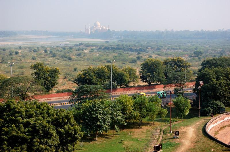 Вид с форта на Тадж-Махал