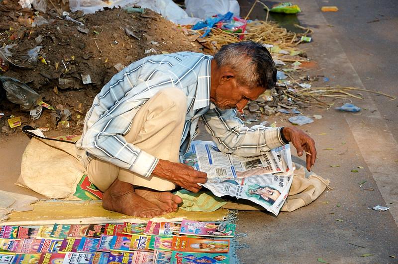 Индийцы очень интересуются политикой :)