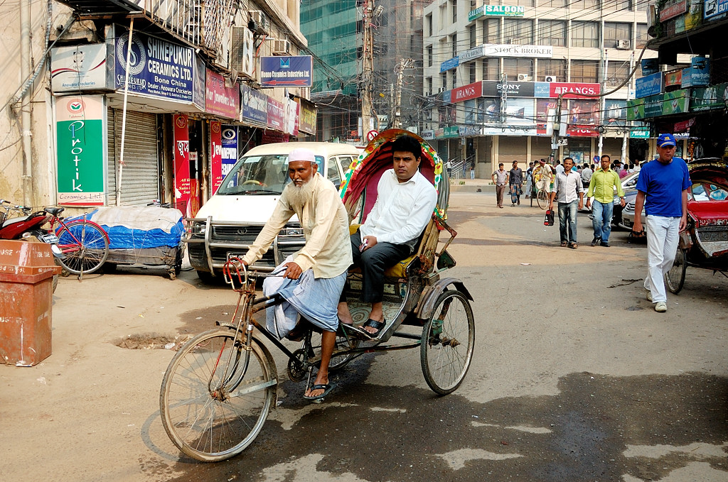 Велорикша в Дакке