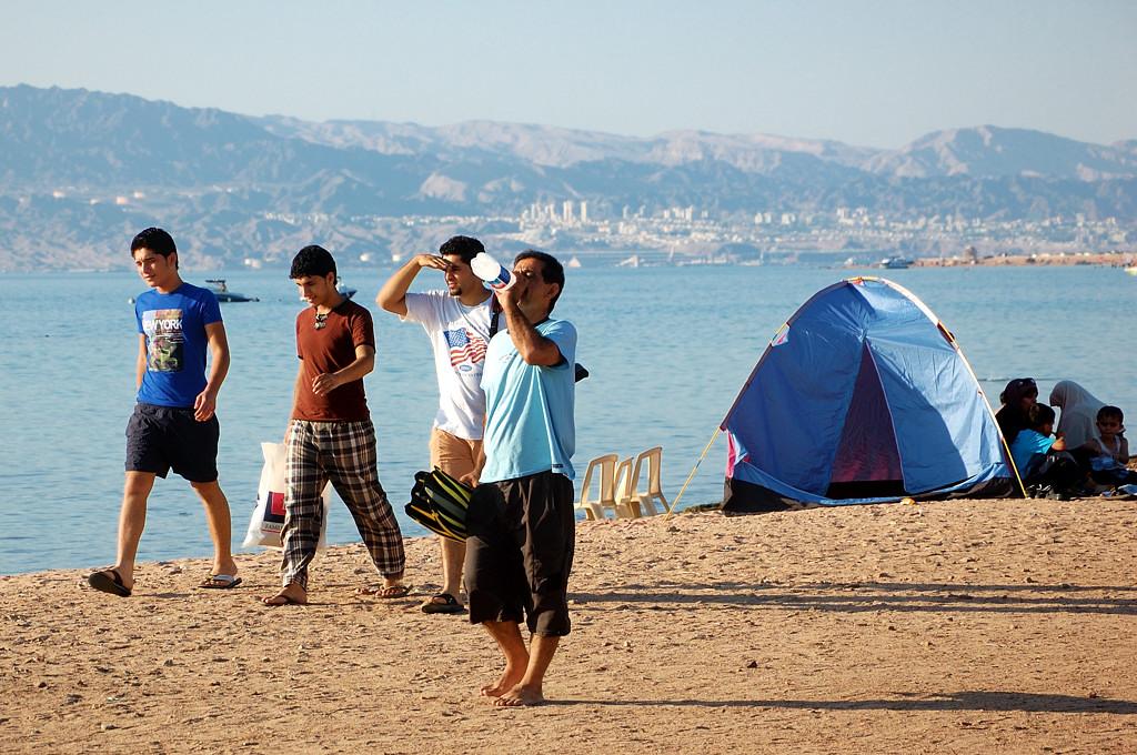На пляже в Акабе