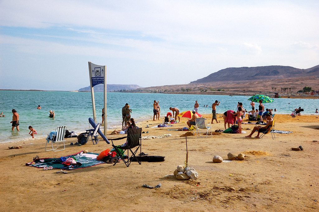 На пляже Эйн-Бокек