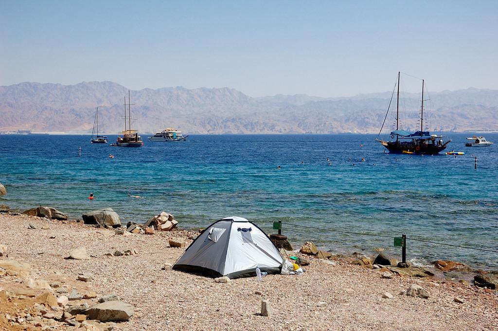 Пляж на Красном море рядом с египетской границей