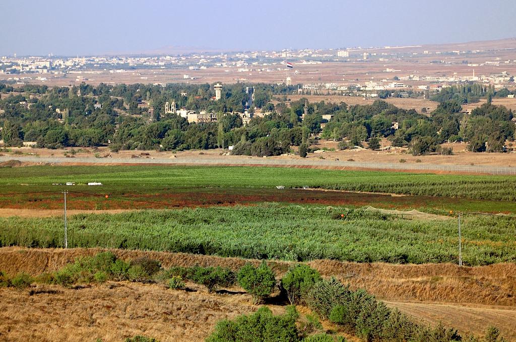 Вид на сирийскую Эль-Кунейтру