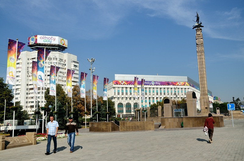 На площади Республики