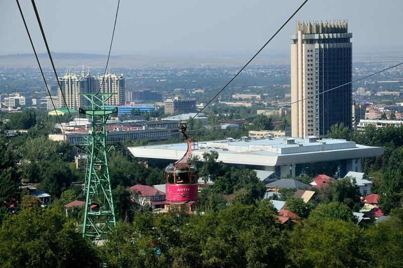 Справа это гостиница Казахстан