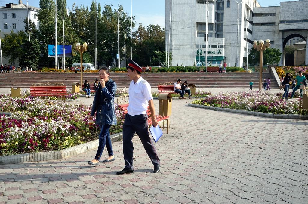 Киргизский милиционер