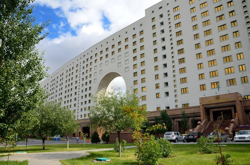 А вот здесь разместились министерства Казахстана