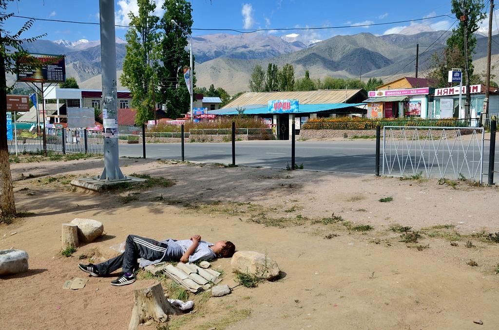 Устал, лег полежать, прямо как в Индии :)