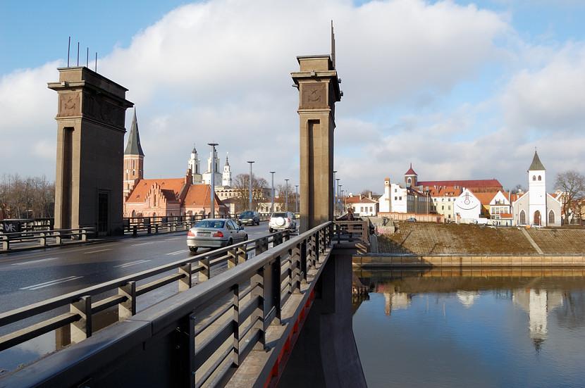Вид на центр города с моста через Неман
