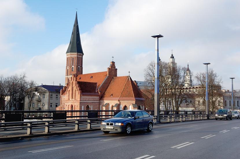 Церковь Витаутаса Великого, вид с моста через Неман