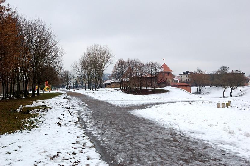 В парке у Каунасского замка