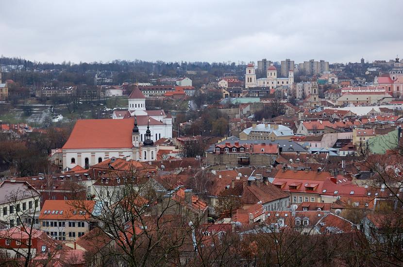 Вид на Вильнюс с горы Гедиминаса