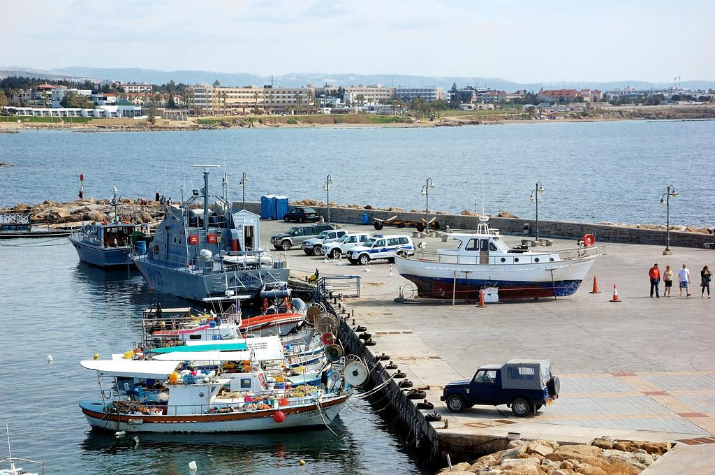 Пафос. В порту. Вид с крепости