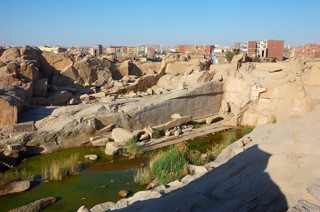 Вид с каменоломен на Асуан