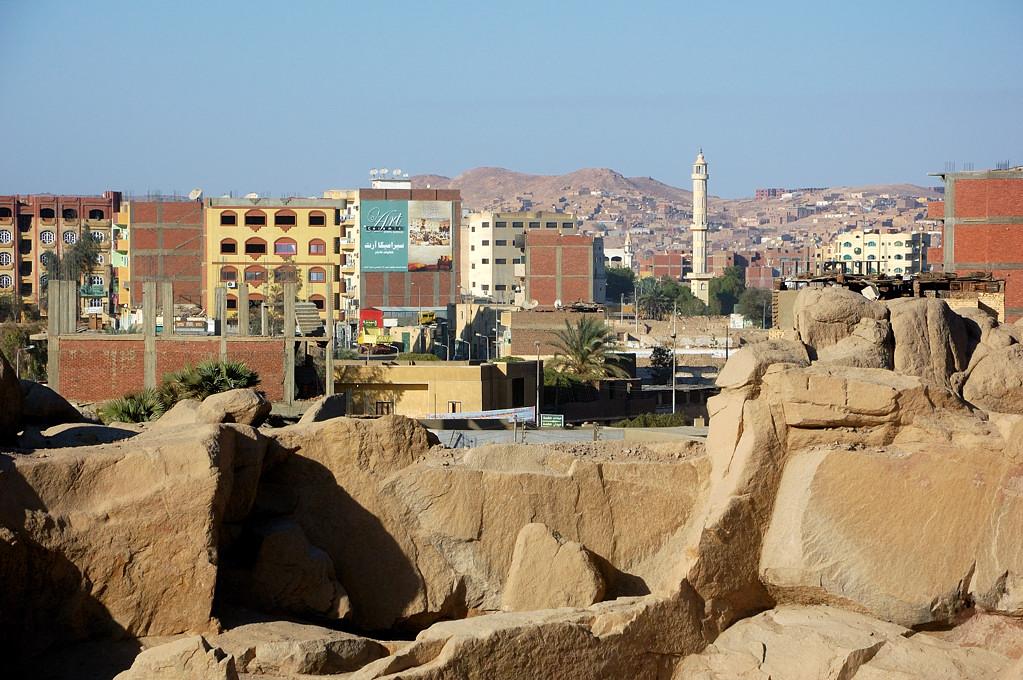 Вид с каменоломен на город