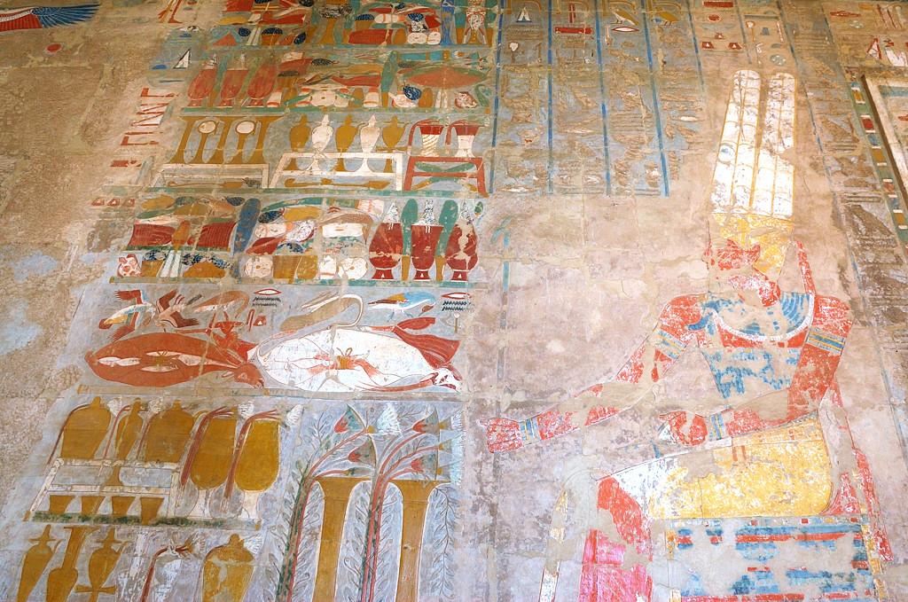 Храм Хатшепсут - элементы оформления