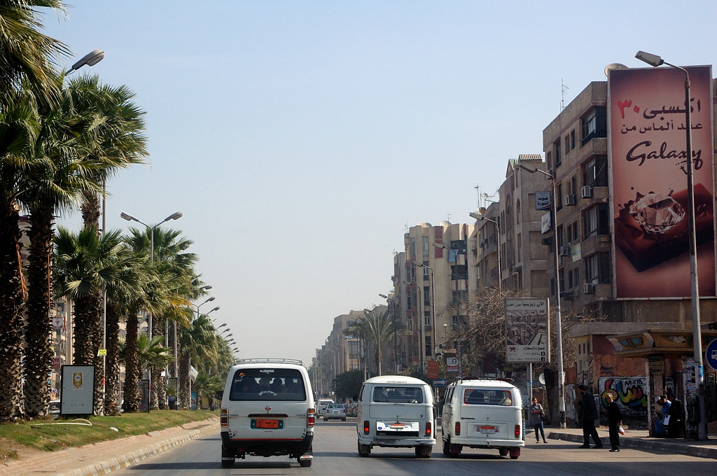 На улицах Каира. Едем к Цитадели