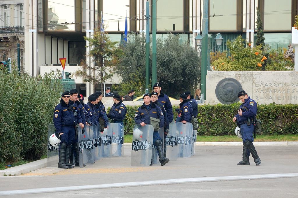 Полицейские на площади Синтагма