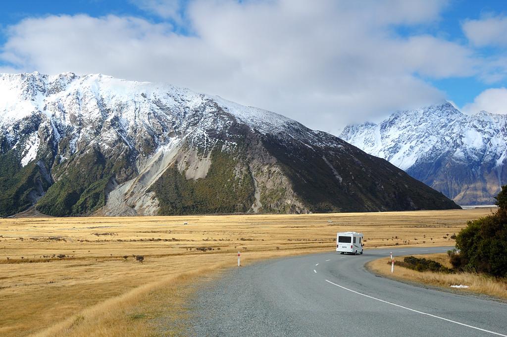 В окрестностях деревни Mt Cook