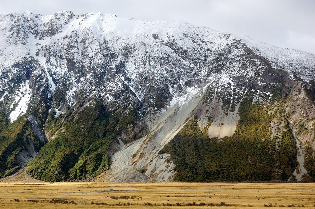 Вид на долину у деревни Mt Cook