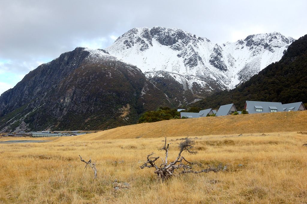 В долине у деревни Mt Cook