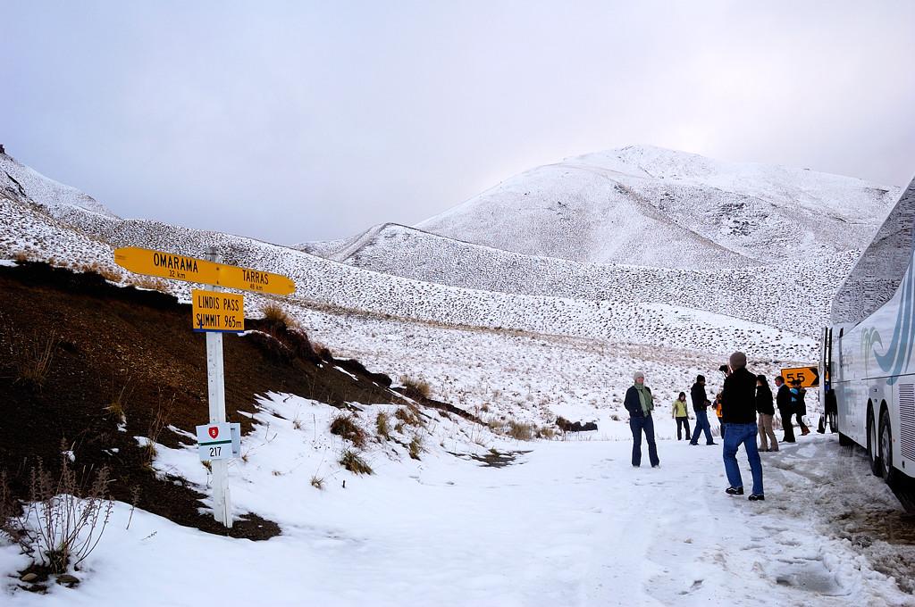 На перевале Lindis Pass по дороге в Квинстаун
