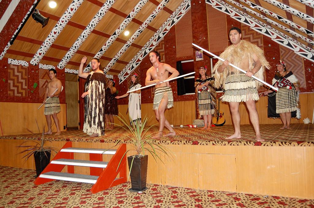 Этнографический музей Te Puia. Концерт маори