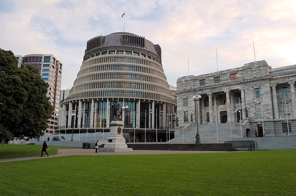 Wellington. The Parliament of New Zealand