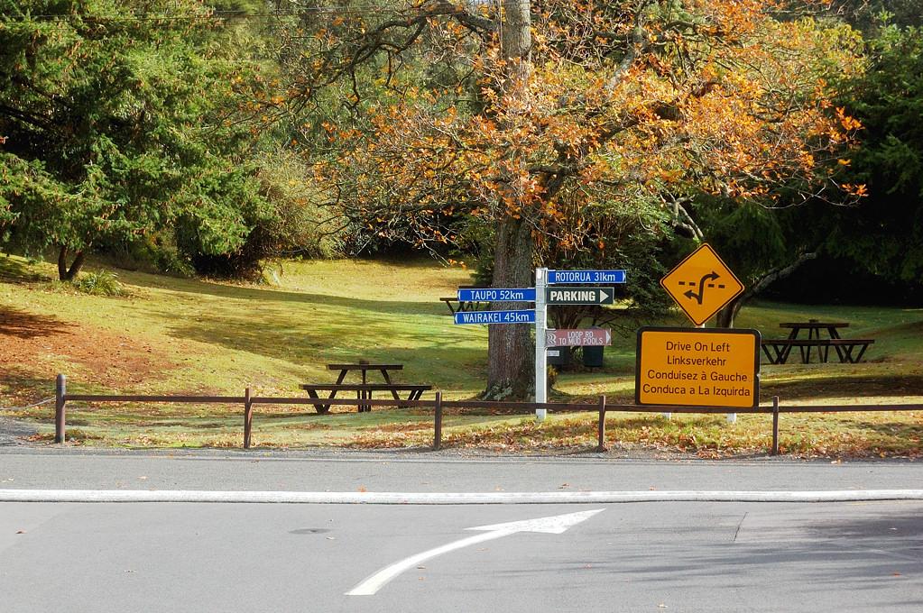 Новозеландская осень в парке Wai-O-Tapu