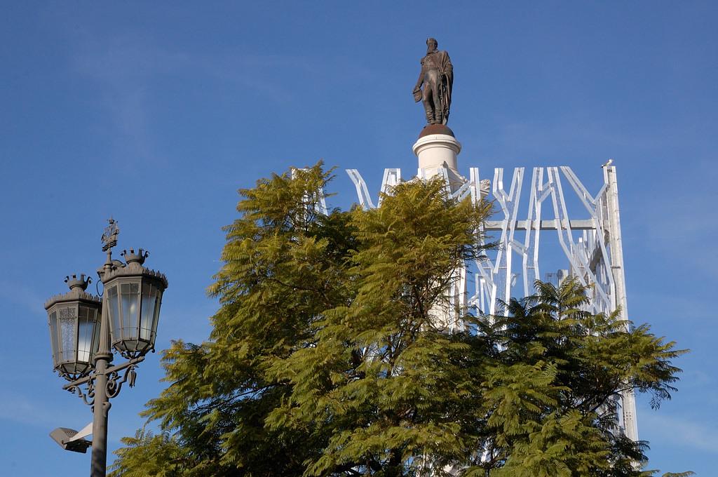 На площади Россиу в Лиссабоне