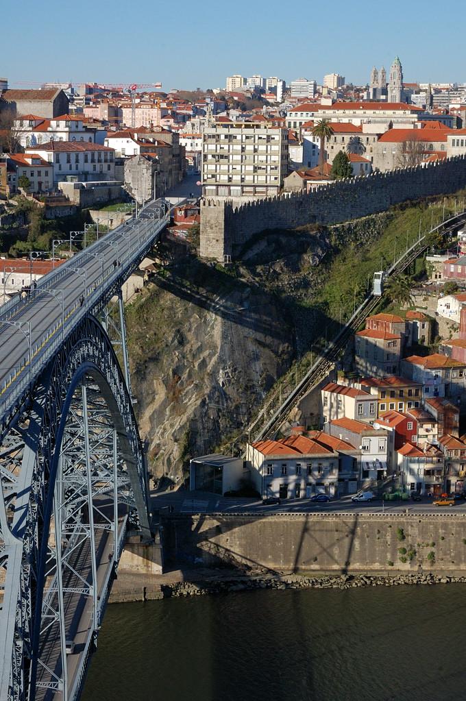 Вид на мост Луиша I от монастыря Serra do Pilar
