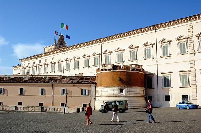 Дворец Квиринале, резиденция Президента Италии