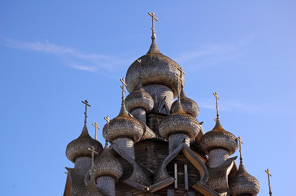 Купола Преображенской церкви
