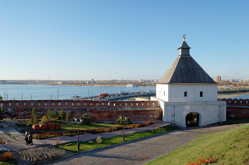 В Казанском Кремле. Безымянная башня