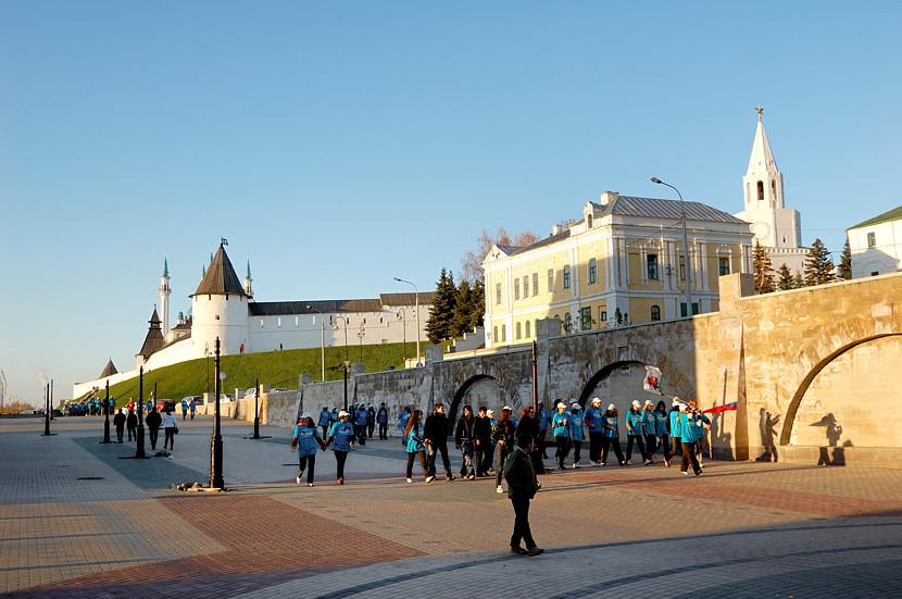 У станции метро рядом с Кремлем