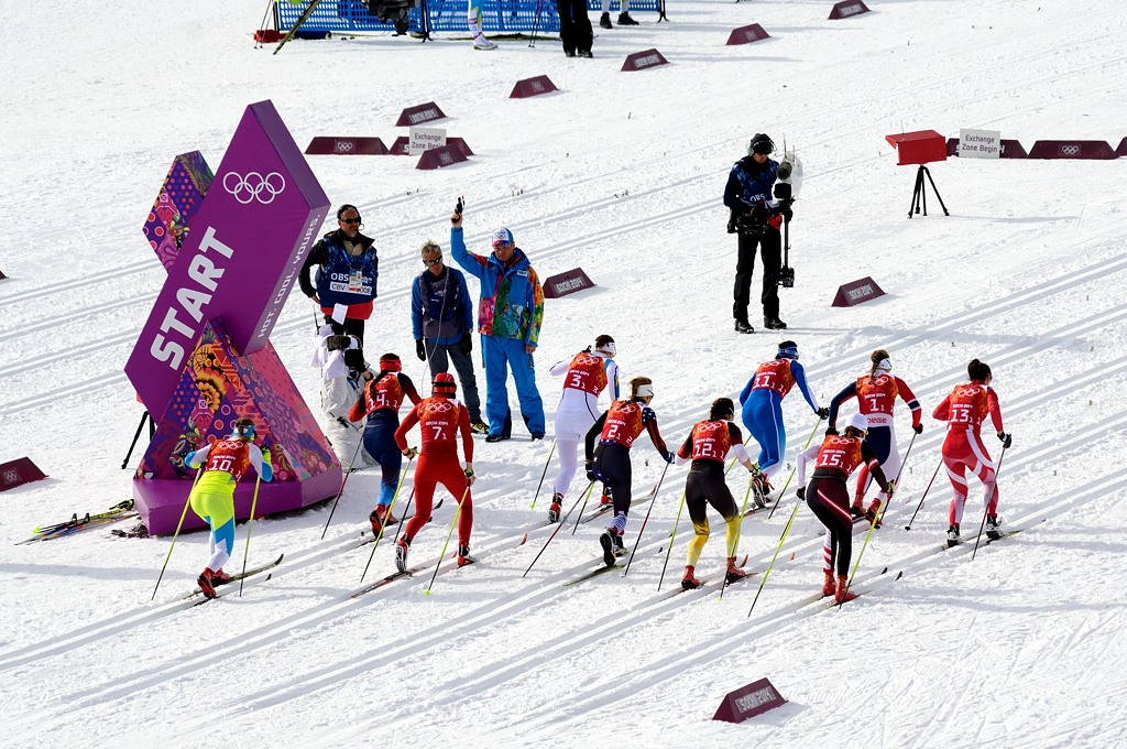 На старте финала женского командного спринта