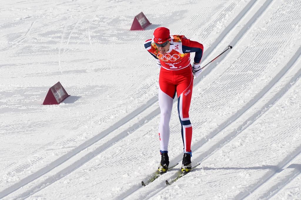 На трассе командного спринта норвежец Ола Виген Хаттестад