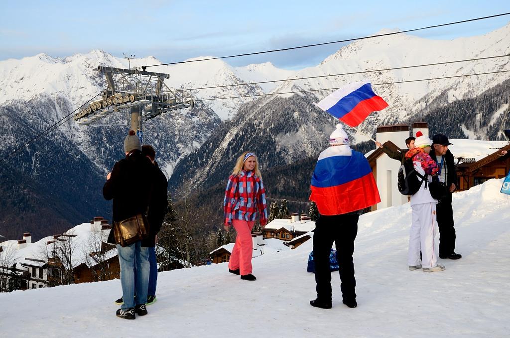 По окончании олимпиады флаги будут отправлены на Украину ;)