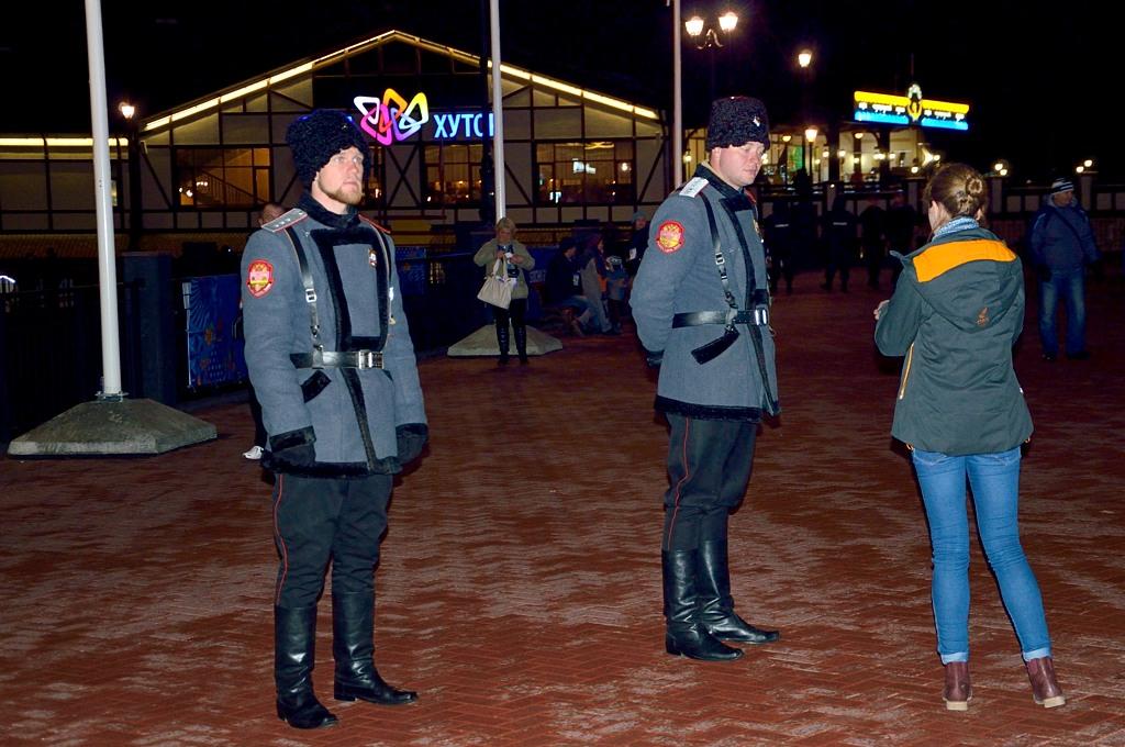 Улицы в Сочи и Красной Поляне патрулируют казаки вот в такой форме