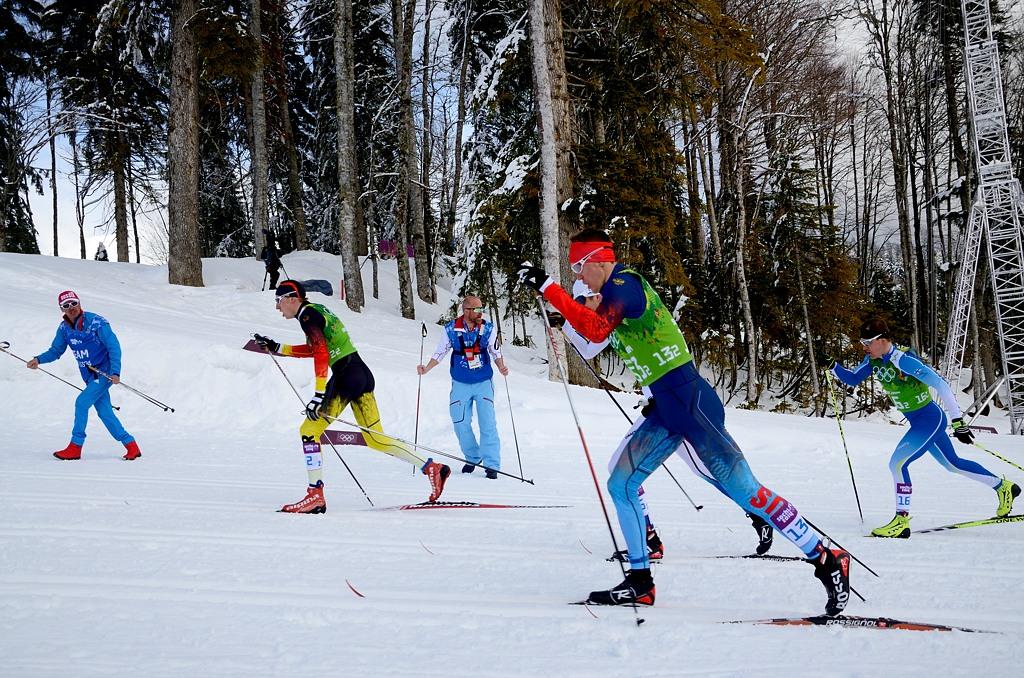 Командный спринт, на трассе - Никита Крюков