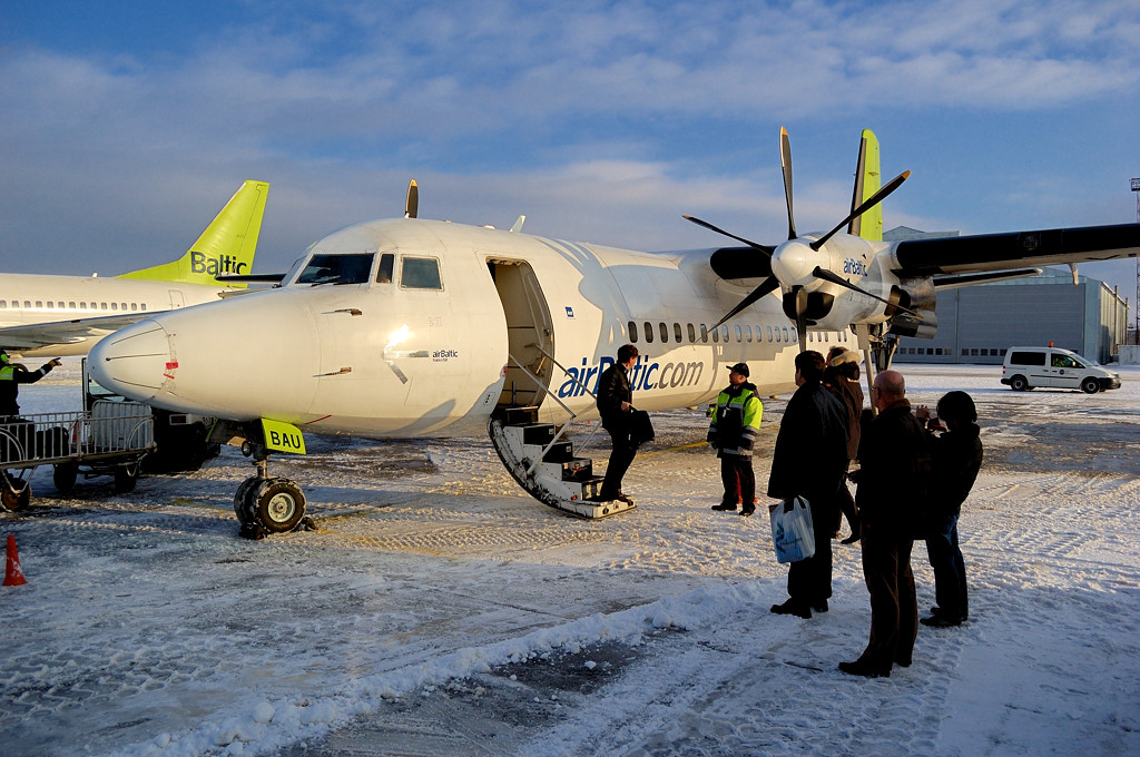 Fokker-50 авиакомпании airBaltic