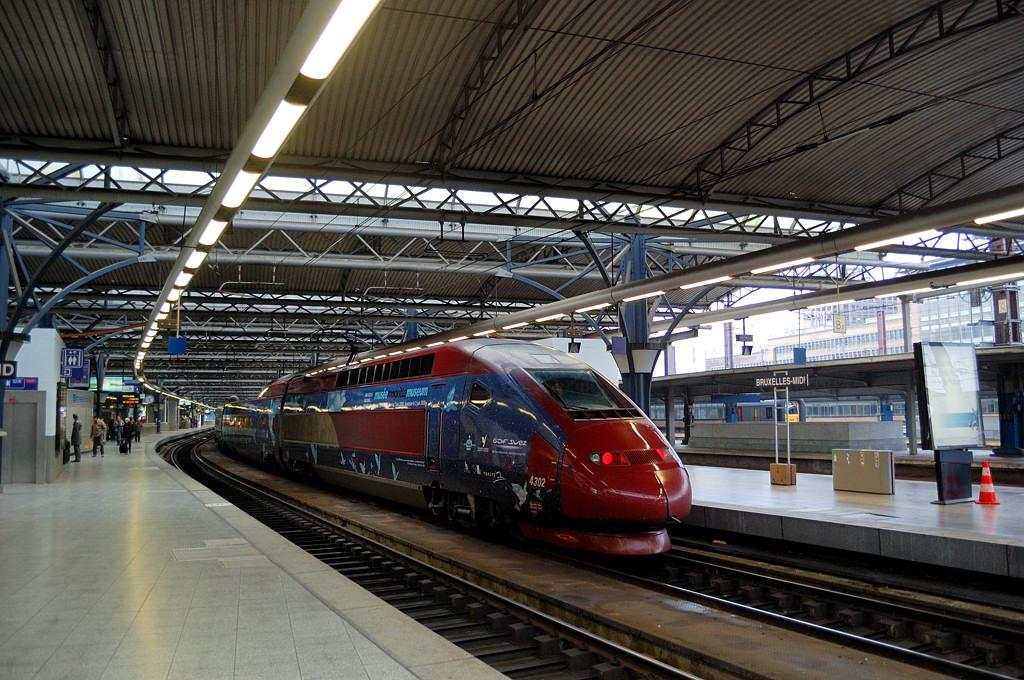 Поезд Thalys на Южном вокзале