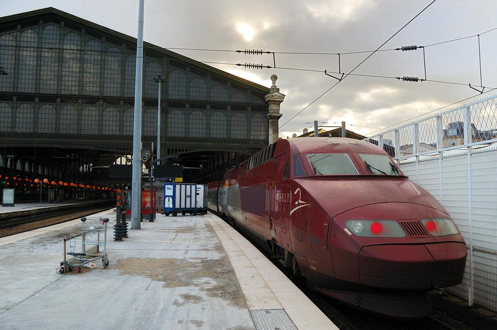 Поезд Thalys на Северном вокзале. Уже в Париже