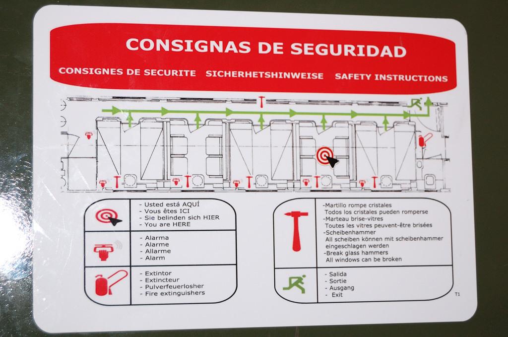 План вагона поезда Francisco Goya
